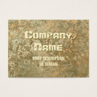 Corrosion yellow print 'description' chubby business card