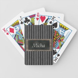 Corrugated Cardboard & Chalkboard Monogram Bicycle Playing Cards