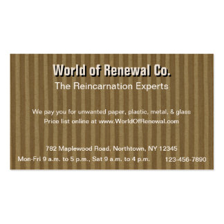 Corrugated Cardboard for Recyclers Movers Etc Business Card Template