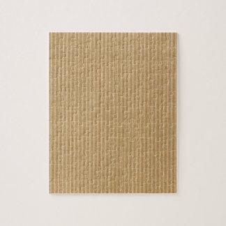 Corrugated cardboard jigsaw puzzle
