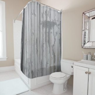 Corrugated Metal look Shower Curtain