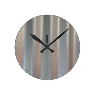 Corrugated Sheet Metal Round Clock