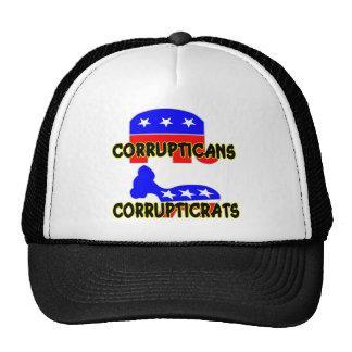 Corrupticans Corrupticrats Republican Democrat Trucker Hat