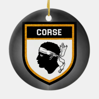 Corse  Flag Ceramic Ornament