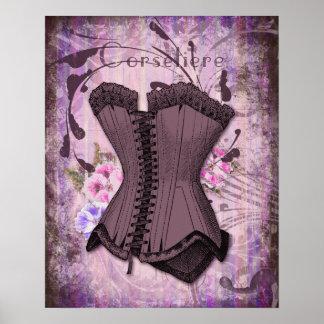 Corsetiere II Antique Corset illustration print