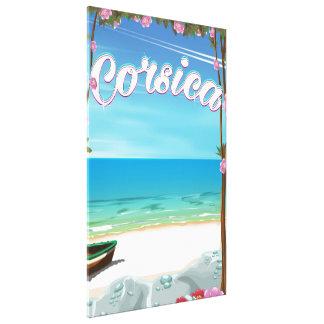 Corsica Beach travel poster Canvas Print