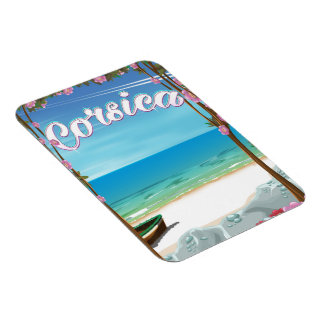 Corsica Beach travel poster Magnet