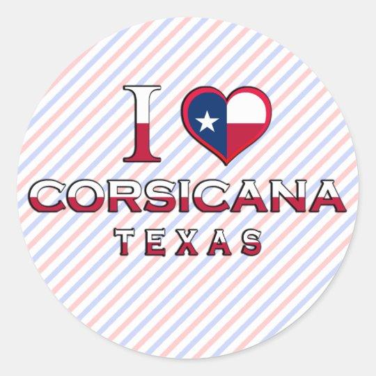 Corsicana, Texas Classic Round Sticker