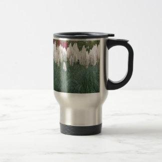 Cortaderia selloana known as pampas grass travel mug