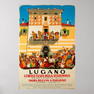 Corteo festa della Vendemmia, Lugano,Travel Poster