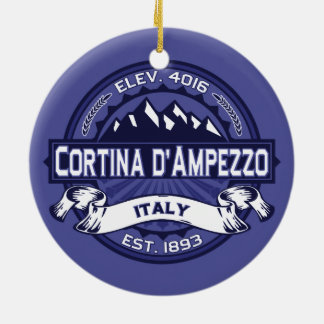 Cortina d'Ampezzo Midnight Ceramic Ornament