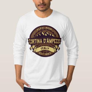 Cortina d'Ampezzo Italy Sepia T-Shirt