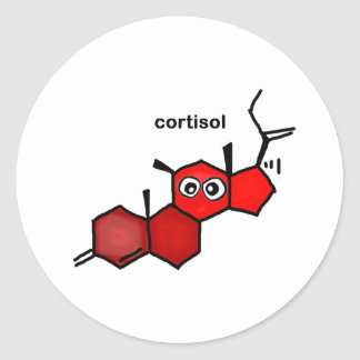 Cortisol Classic Round Sticker
