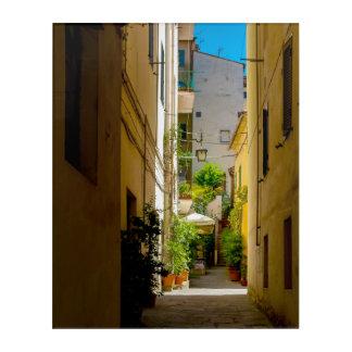 Cortona, Tuscany, Italy - hidden alleyway Acrylic Print