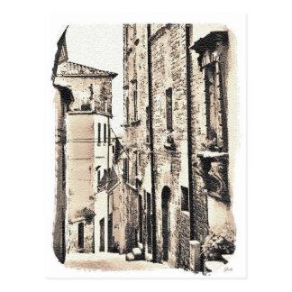 Cortona Tuscany Italy. Postcard