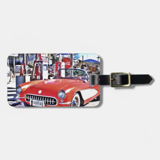 Corvette 66 luggage tag