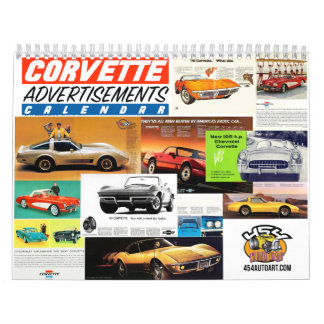 Corvette Advertisement Car Calendar