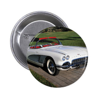 Corvette antique cars classic autos vintage cars 2 inch round button