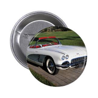 Corvette antique cars classic autos vintage cars 2 inch round button