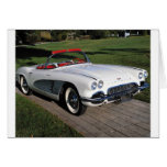 Corvette antique cars classic autos vintage cars greeting card