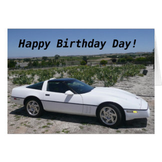 Corvette Birthday Day Card