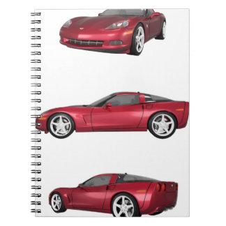 Corvette: Candy Apple Finish Notebooks