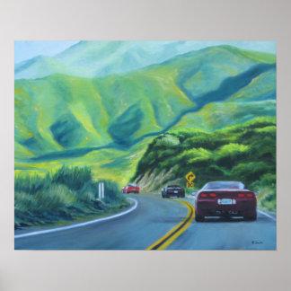 Corvette Caravan Poster