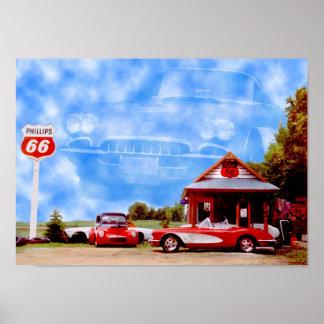 Corvette Clouds Poster