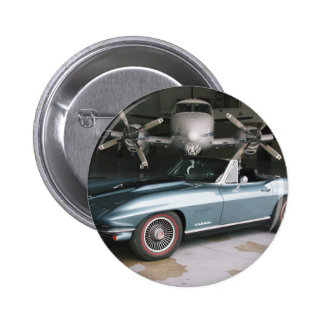 Corvette Convertible 2 Inch Round Button