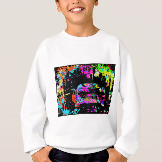 Corvette Paint Splatter Graffiti Effect Sweatshirt