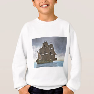 Corvette Sailing Vessel in Calm Waters Sweatshirt