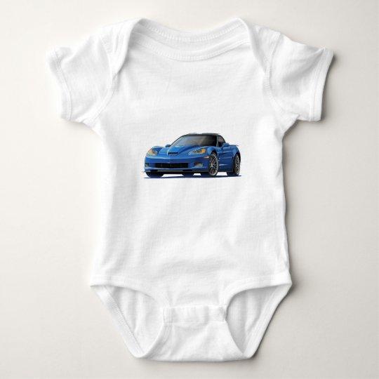Corvette ZR1 Blue Car Baby Bodysuit