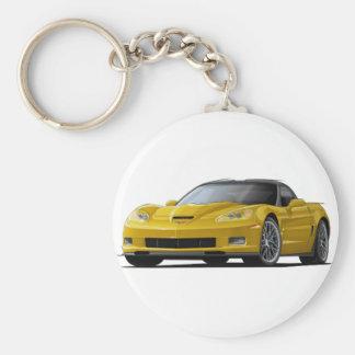 Corvette ZR1 Yellow Car Keychain