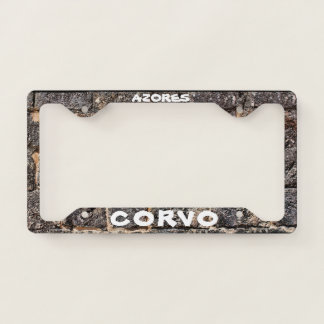 Corvo Azores Custom License Plate Frame