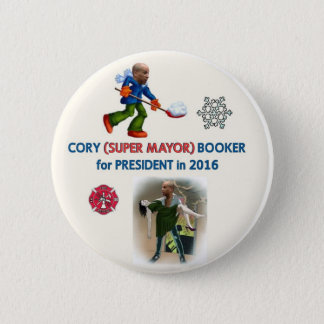 Cory Booker for President 2016 2 Inch Round Button