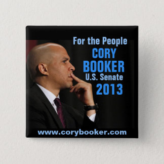 Cory Booker for Senate 2 Inch Square Button