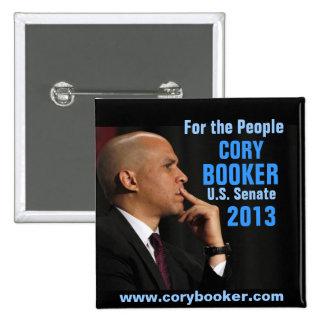 Cory Booker for Senate 2 Inch Square Button