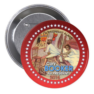Cory Booker President 2016 3 Inch Round Button