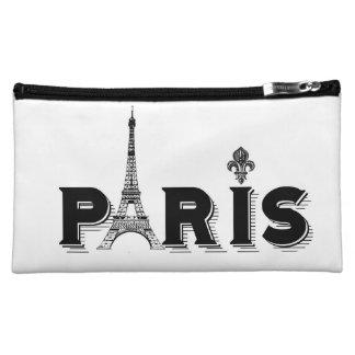 Cosmetic Bag-black and white-PARIS Cosmetic Bag