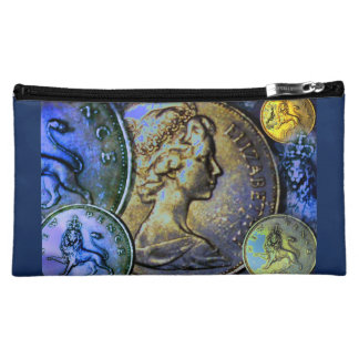 Cosmetic Bag: Coinscape Great Britain 10 New Pence Cosmetic Bags