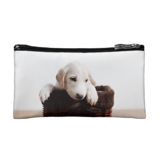 Cosmetic Bag - Dog in a basket