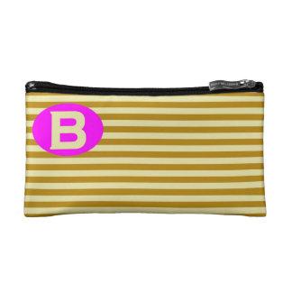 Cosmetic Bag. Initial - B. Makeup Bag
