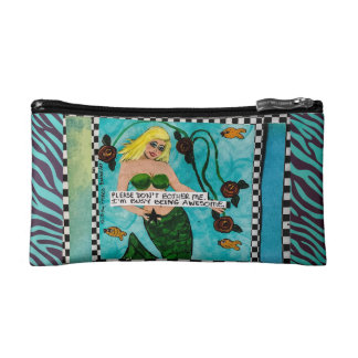 Cosmetic bag-please don't bother me. I'm busy bein Makeup Bag