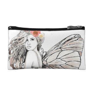 Cosmetic Bag - Small Shadow Fairy w/ Flowers