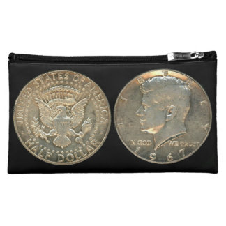 Cosmetic Bag - USA Kennedy Half Dollar Silver Coin