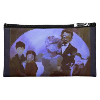 Cosmetic Bag w. Painting 'Family Portrait' Purple