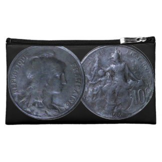 Cosmetic Bag with Coin - France 10 Centimes 1913
