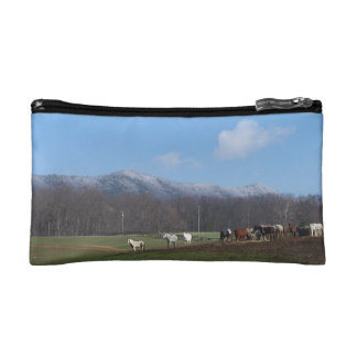 Cosmetic bag with horses