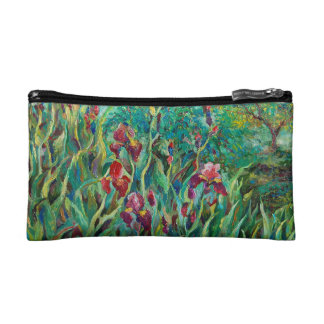 Cosmetic bag with irises