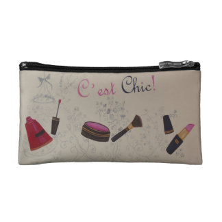 Cosmetic Bag with Vintage French Set